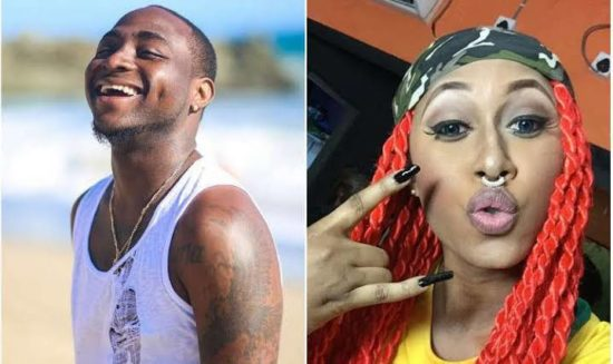 Davido and Cynthia Morgan